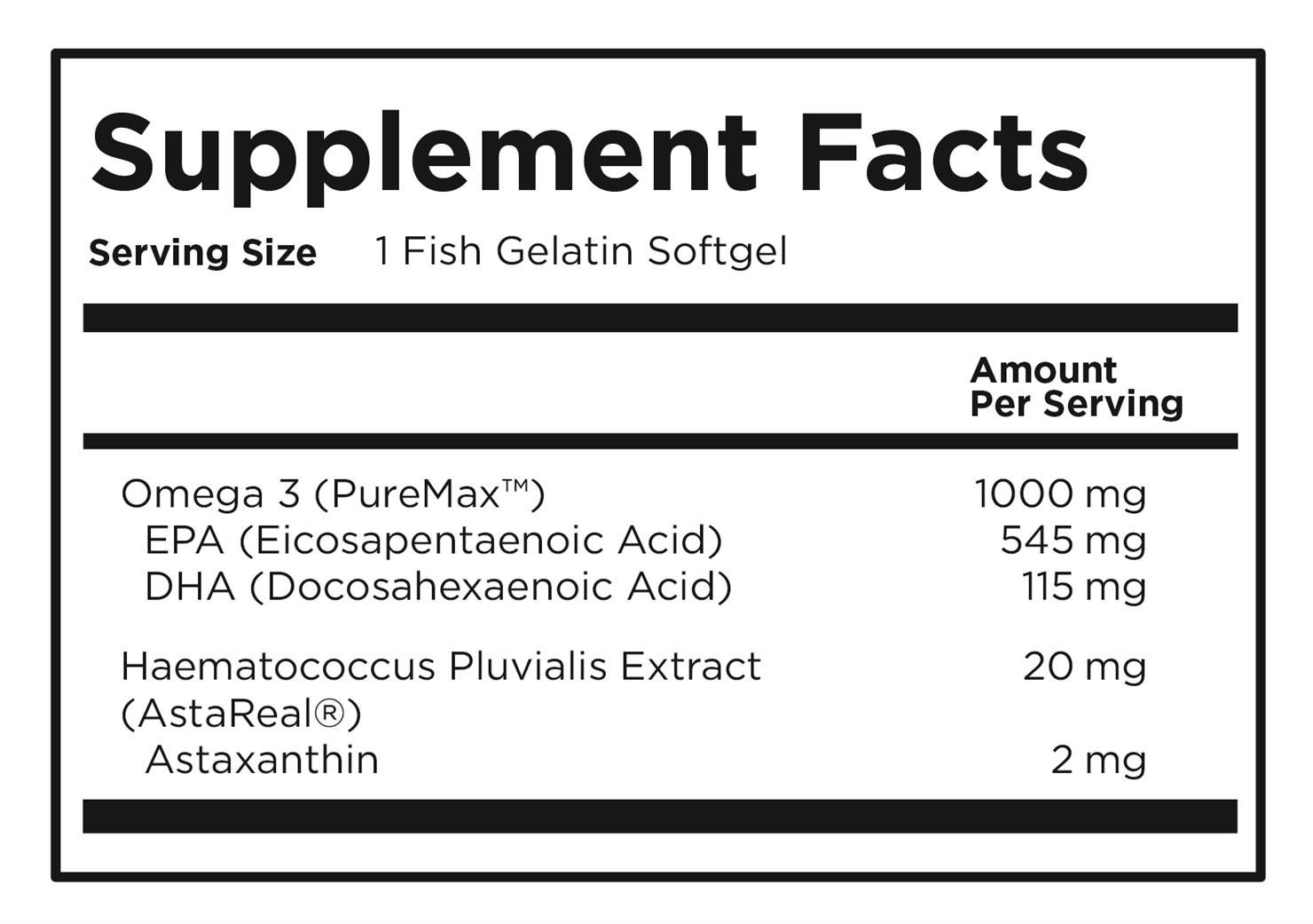Astaxanthin + Omega 3